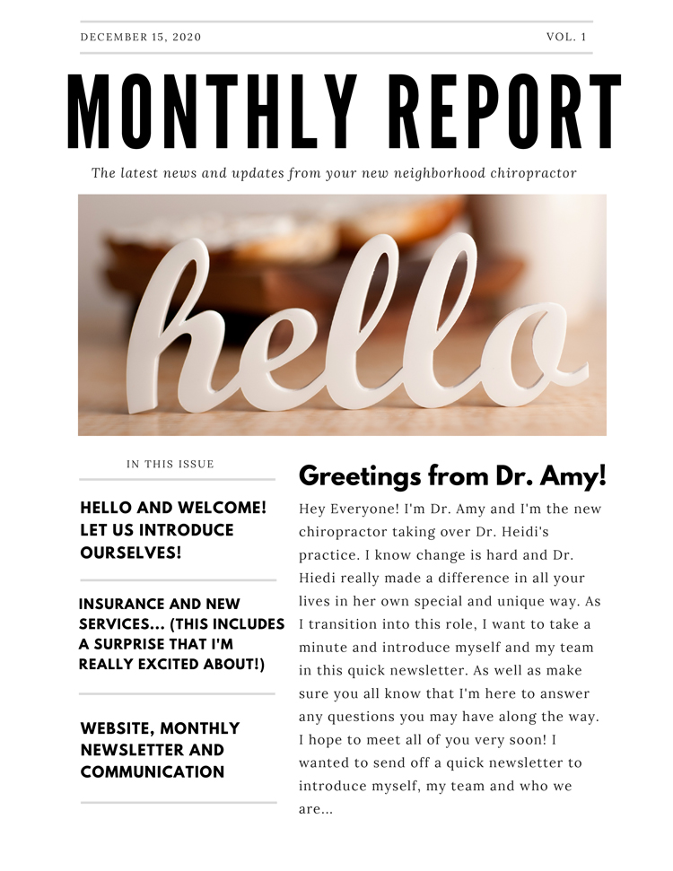 December Newsletter at North Portland Wellness Group 1